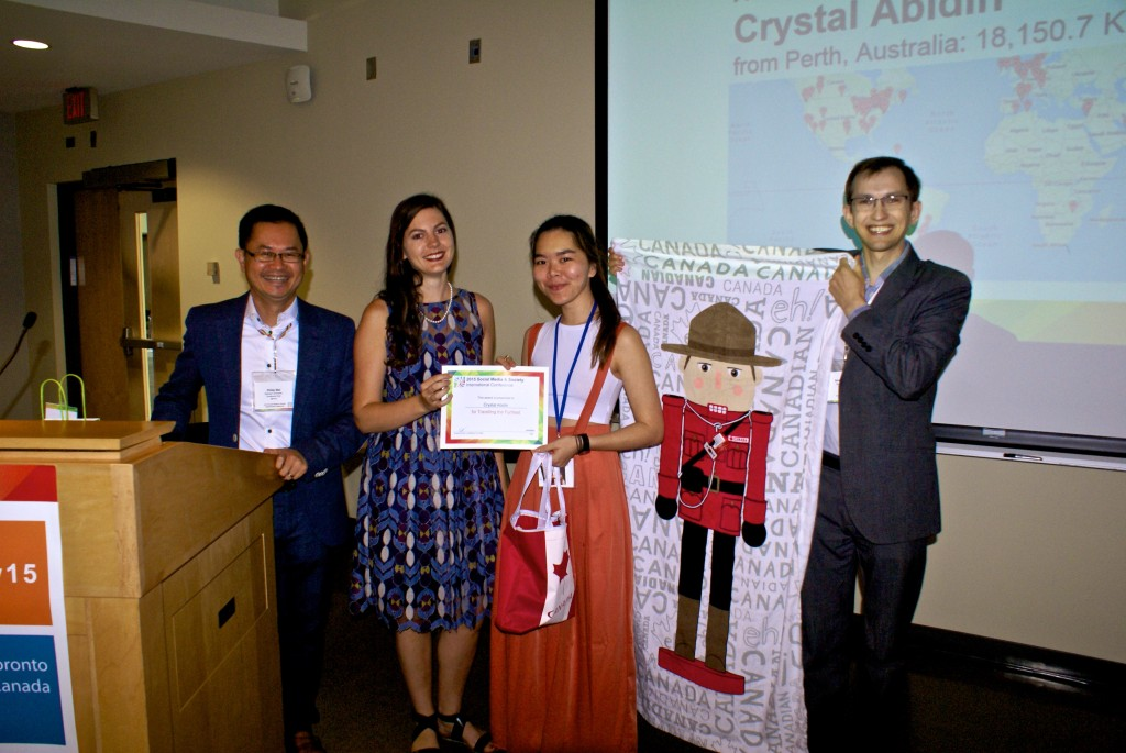 Attendee Who Traveled the Furthest Award: Crystal Abidin (from Perth, Australia: 18,150.7 KM)