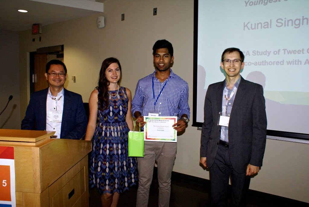 "Youngest Scholar Award: Kunal Singh ""A Study of Tweet Chats for Breast Cancer Patients"" (co-authored with Ajita John)"