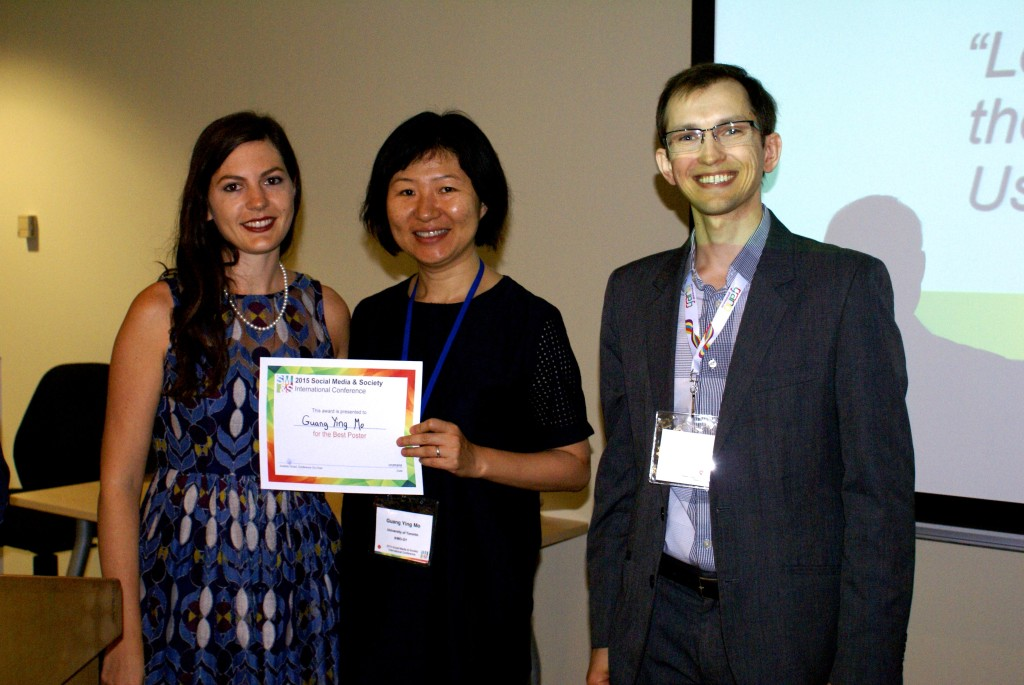 "Best Poster Award: by Guang Ying Mo ""Let's Keep in Touch on Social Media after the Conference!"" Researchers' Professional Use of Social Media"