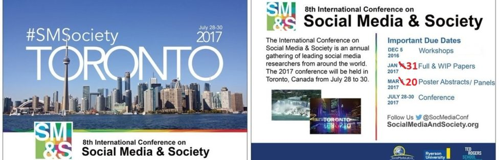 Join Us for the 2017 SMSociety in Toronto, July 28-30!