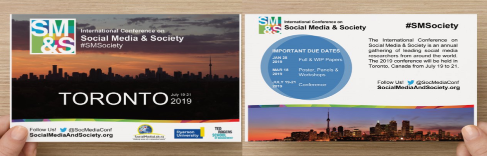 Rethinking Privacy and Trust in the Social Media Age — #SMSociety #CFP Toronto, Canada July 19–21, 2019