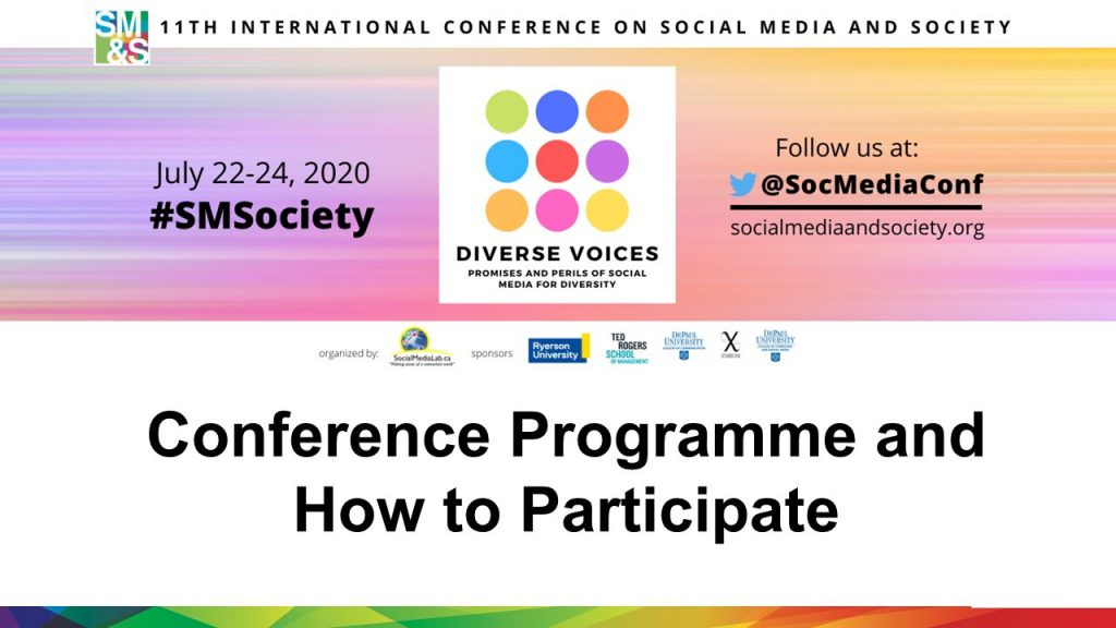 So here is how to participate in this year's virtual conference.